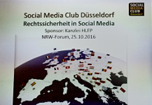 Social Media Club Düsseldorf: Rechtssicherheit in Social Media
